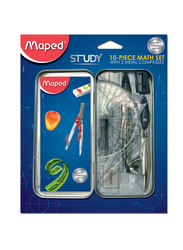 Maped 10-Piece Study Geometry Mathematical Set, Multicolor