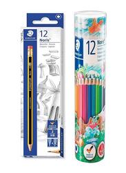 Staedtler Norica STP-PACK-190 Pencils and Colors Pencils Set, 25 Pieces, Multicolor