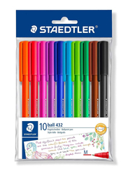 Staedtler 43235MWP10TH Ballpoint Pens, 10-Pieces, Multicolor