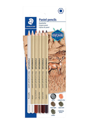 Staedtler Mars Lumograph ST-100P-SBK6 Design Journey Pastel Color Pencils Set, 6 Pieces, Multicolor