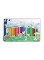 Staedtler Noris ST-145-SPM36 Color Pencils Set, 145 Spm, Sport Design Tin, 36 Pieces, Multicolor