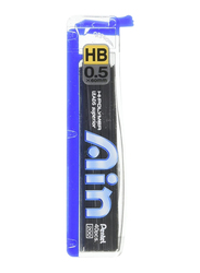 Pentel Ain HB Pencil Lead Set, 0.5mm, Blue/Black
