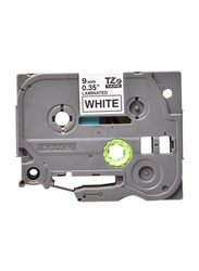 Brother TZE-221 Laminated Label Tape, 9mm x 8 Meters, Black on White