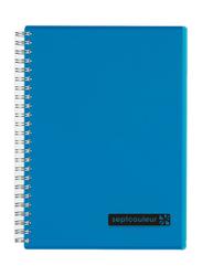 Maruman Septcouleur Notebook, 14.8 x 21cm, 80 Sheets, A5 Size, Blue