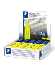 Staedtler Textsurfer Classic Highlighters, 10-Pieces, Yellow