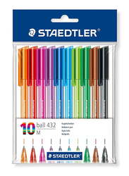 Staedtler 432 Ballpoint Pens, 10-Pieces, Multicolor