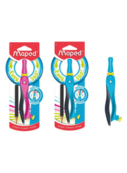Maped 360 Degree Compass with Pencil and Universal Holder, Assorted Color