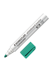 Staedtler Lumocolor 351-5 Whiteboard Markers with Round Tip, 10-Pieces, Green