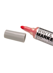 Pentel Maxiflo White Board Marker with Pumping System Round Point, 2.5mm, MWL5M-BO, Red