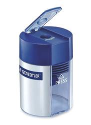 Staedtler 511 Tub Single Hole Sharpener, Blue/Silver