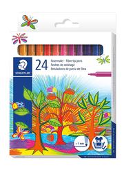 Staedtler Fasermaler Fiber-Tip Pens, 24-Pieces, Assorted Colors