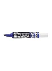 Pentel Maxiflo Green Label Chisel Tip White Board Marker, Blue