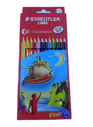 Staedtler Luna ST-136-LC12-1 Color Pencils Set, with Free sharpener, Pre-Sharpened, 12 Pieces, Multicolor