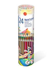 Staedtler Noris Color Pencils Cylinder, 24-Pieces, Multicolor