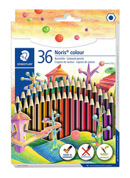 Staedtler Noris Color 185 C12 Colored Pencils, 36-Pieces, Multicolor
