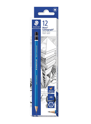Staedtler Mars Lumograph ST-100-HB HB Pencils Set, 12 Pieces, Multicolor