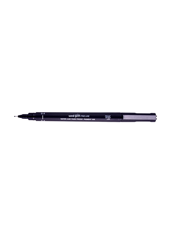 Uniball Uni Pin Technical Fineliner, 0.4mm, Black