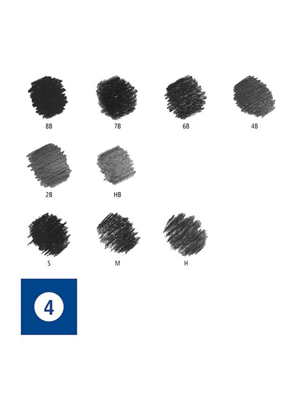 Staedtler Mars Lumograph ST-61-100C Charcoal Pencils Set, 12 Pieces, Multicolor