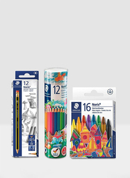 Staedtler STP-PACK-110 Paint Set, 40 Pieces, Multicolor