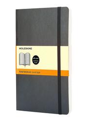 Moleskine Soft Cover Ruled Notebook, Large, Black