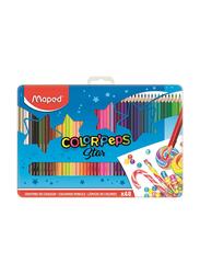 Maped 48-Piece Color'Peps Star Colored Pencil Set in Metal Box, M832058, Multicolor