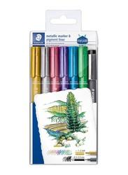 Staedtler 8323-SWP6P Metallic Markers Set, 6 Pieces, Multicolor