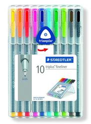 Staedtler Triples Fineliner St 334 SB10 Pens, 10-Pieces, Multicolor