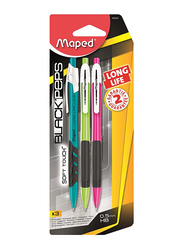 Maped 3-Piece Long Life Mechanical Pencils Set, 0.5mm Multicolor