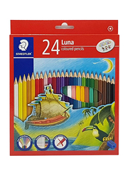 Staedtler Luna ST-136-LC24-1 Color Pencils Set, with Free Sharpener, Pre-Sharpened, 24 Pieces, Multicolor