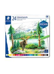 Staedtler Journey ST-146C-M24 Color Pencils Set, Metal Box, Assorted Colors, 24 Pieces, Multicolor