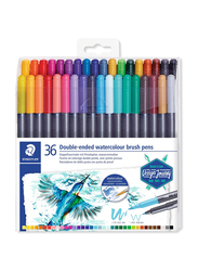 Staedtler 3001 TB36 Double Ended Watercolor Brush Pens, 36-Pieces, Multicolor