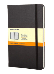 Moleskine Classic Ruled Paper Notebook with Hard Cover & Elastic Closure, 13 x 21cm, 240 Pages, 70gm, Black