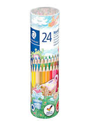 Staedtler ST-144-NMT24CA Color Pencils Set, 24 Pieces, Multicolor