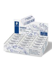 Staedtler 30-Piece Raso Plast Eraser Box, White