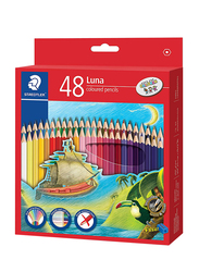 Staedtler Luna ST-136-LC48 Color Pencils Set, with Free Sharpener, 48 Pieces, Multicolor