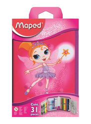 Maped 31-Pieces Fairy Filled Pencil Case with Accessories Set, Multicolor