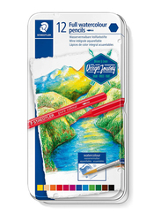Staedtler Journey ST-14610G-M12 Color Pencils Set, Metal Box, 12 Pieces, Assorted Colors