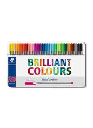 Staedtler 30-Piece Triplus Superfine Fineliner Pen Set, 0.3mm, Multicolor