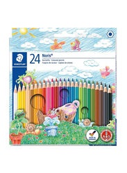 Staedtler Noris Club ST-144-NC24 Color Pencils Set, 24 Pieces, Multicolor