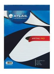 Atlas Writing Pad, 80 Sheets, 70gm, A4 Size, Blue/White