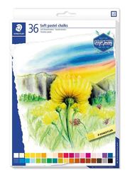 Staedtler 2430C36 Soft Pastel Chalks, 36-Pieces, Multicolor