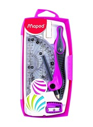 Maped 8-Piece Super School Kids Geometry Set, Assorted Color