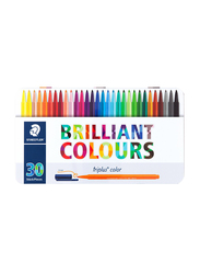 Staedtler 30-Piece Triplus Color Fiber Tip Marker Pen Set, 1.0mm, Multicolor