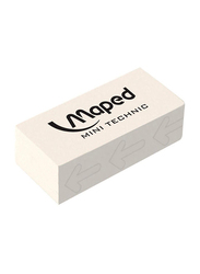 Maped 3-Piece Mini Technic Eraser Set, M011305, White