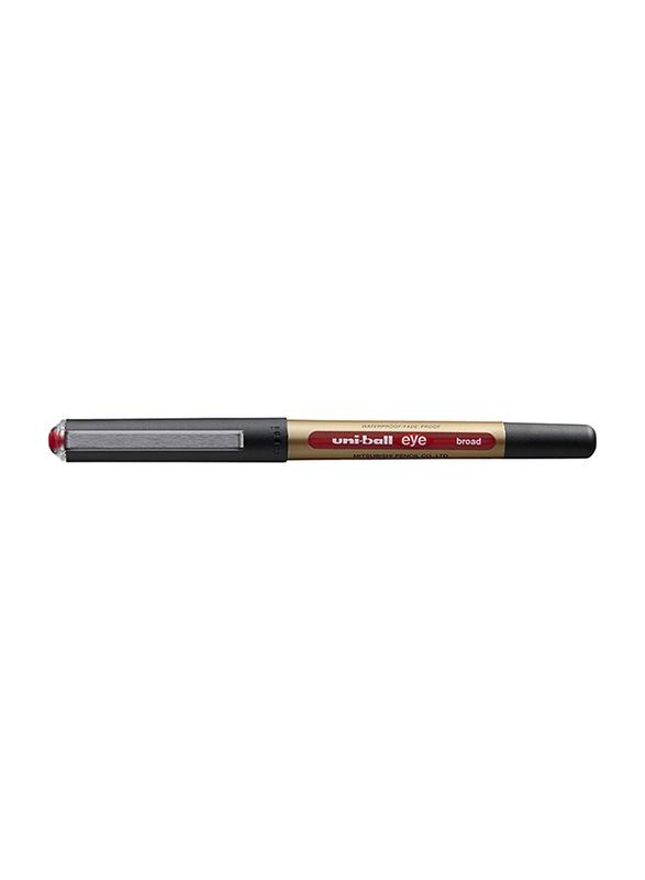 Uniball 12-Piece Eye Broad Rollerball Pen Set, 1.00mm, UB-150-10, Red