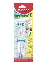 Maped 15cm Multifunction Geo Notes Ruler, 250210, Assorted Color