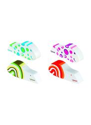 Maped 24-Piece Ergo Fun Fancy Design Eraser, 119711, Assorted Color