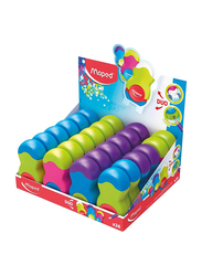 Maped 24-Piece Loopy Colors Eraser and Pencil Sharpener, Multicolor