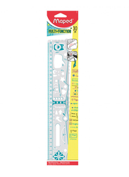 Maped 30cm Multifunction Geo Notes Ruler, 250310, Assorted Color