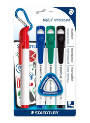 Staedtler Triples Whiteboard Markers with Triangular Barrel, 4-Pieces, Multicolor